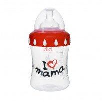 Антиколиковая бутылочка пластиковая I love mama 250 мл.