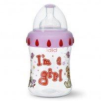 Бутылочка антиколиковая пластиковая Bibi I AM A GIRL 250 мл.